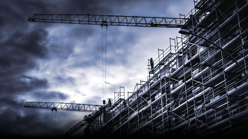 Protect your building site with scaffold alarms & temporary CCTV